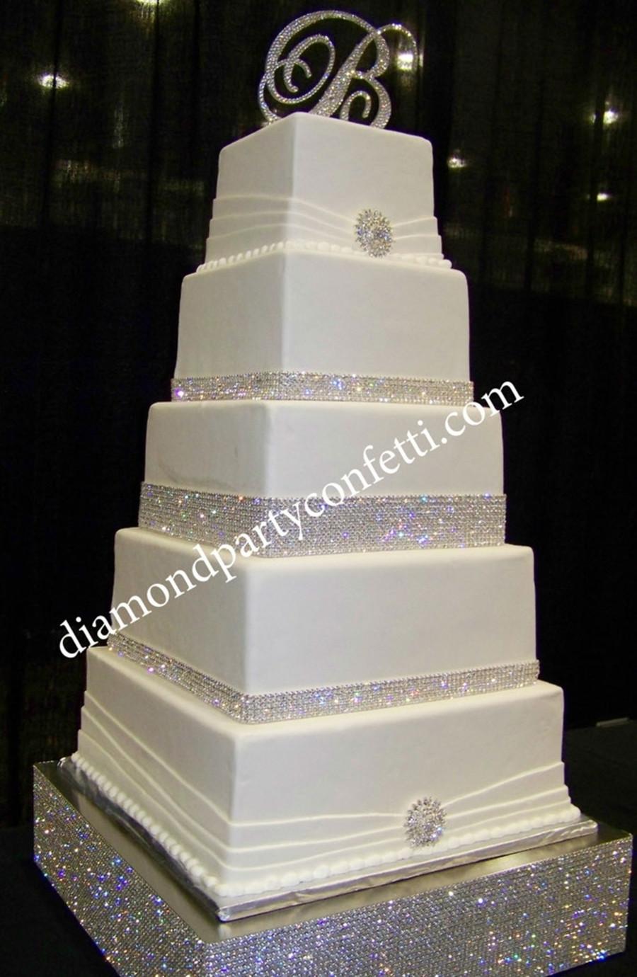 Wedding Cakes With Rhinestones  Rhinestone Bling Wedding Cake CakeCentral