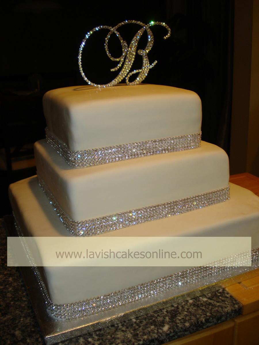 Wedding Cakes With Rhinestones  Rhinestone Wedding Cake CakeCentral