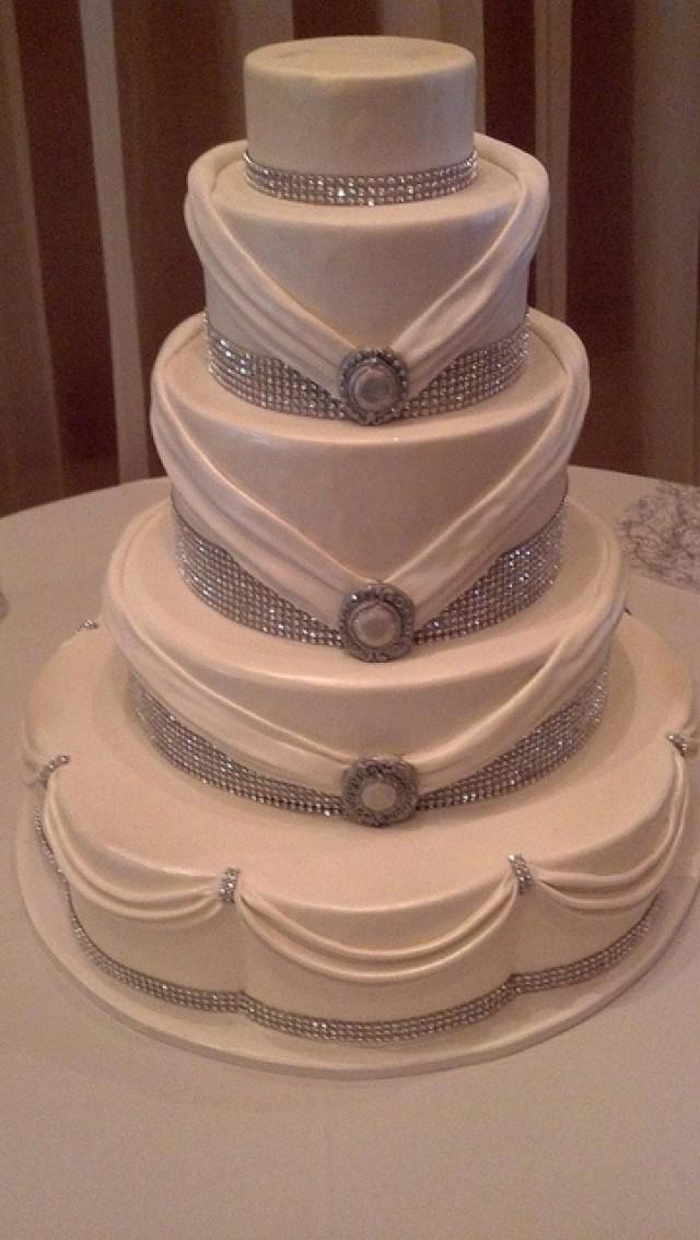 Wedding Cakes With Rhinestones  Cake Rhinestones Weddbook