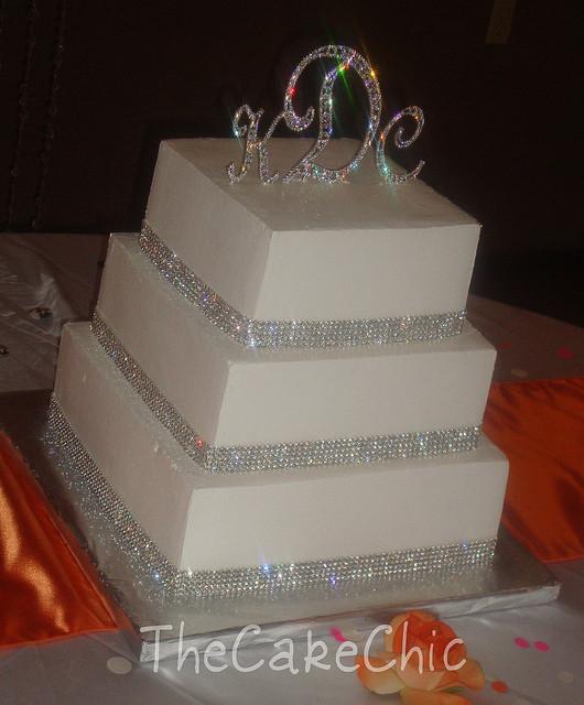 Wedding Cakes With Rhinestones  wedding cake toppers Rhinestone Wedding Cake Toppers