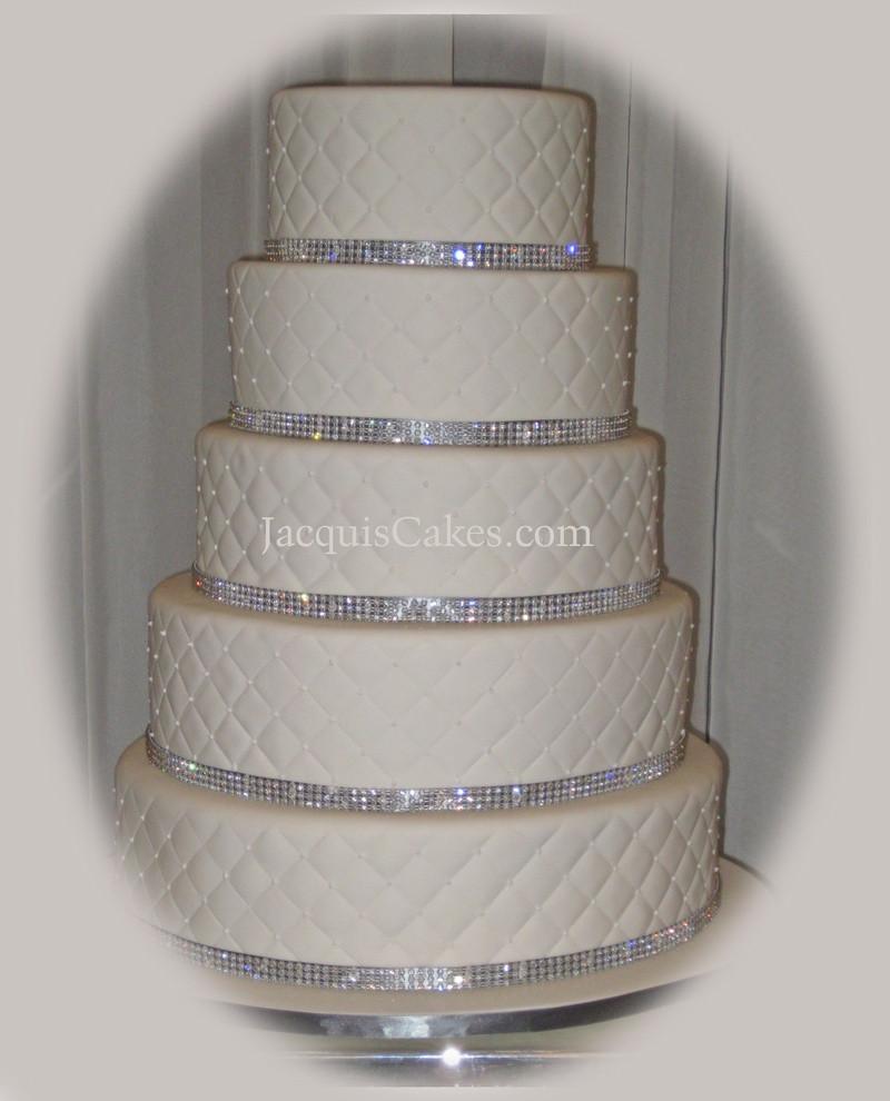 Wedding Cakes With Rhinestones  Wedding cakes with rhinestones idea in 2017