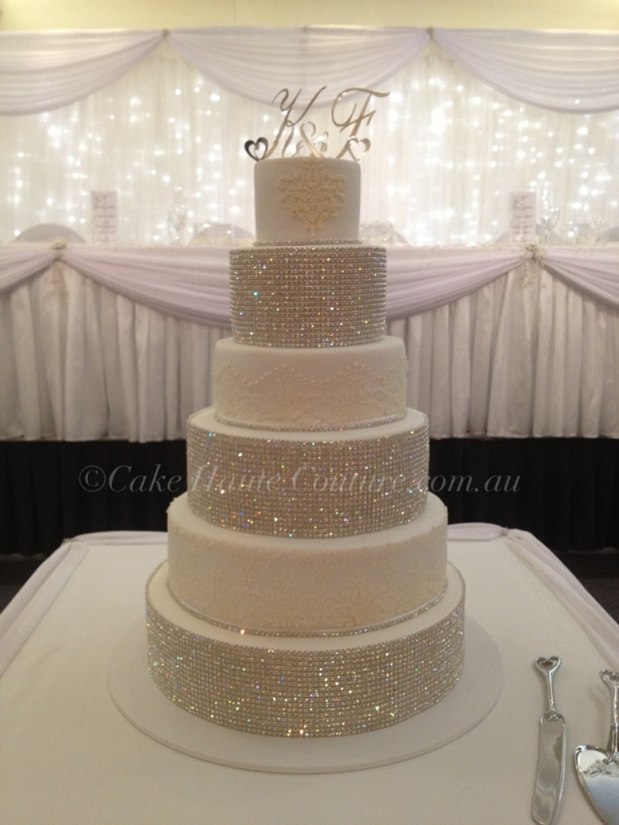 Wedding Cakes With Rhinestones  Super Bling Wedding Cake CakeCentral
