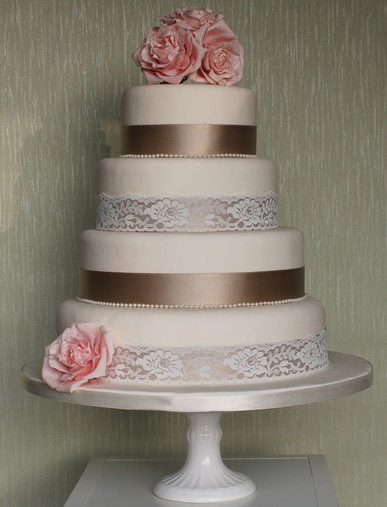 Wedding Cakes With Ribbon  17 Best images about wedding cakes on Pinterest