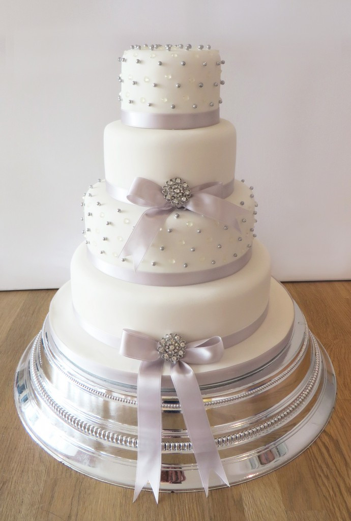 Wedding Cakes With Ribbon  Wedding Cakes The Cakery Leamington Spa