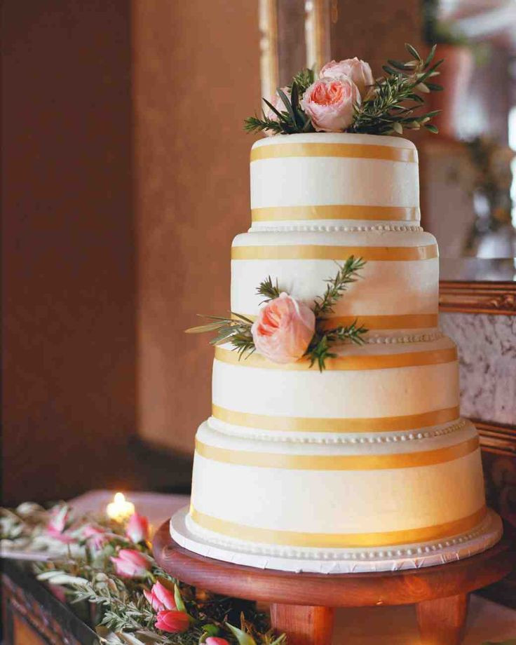 Wedding Cakes With Ribbons  1664 best images about Wedding Cake Ideas on Pinterest