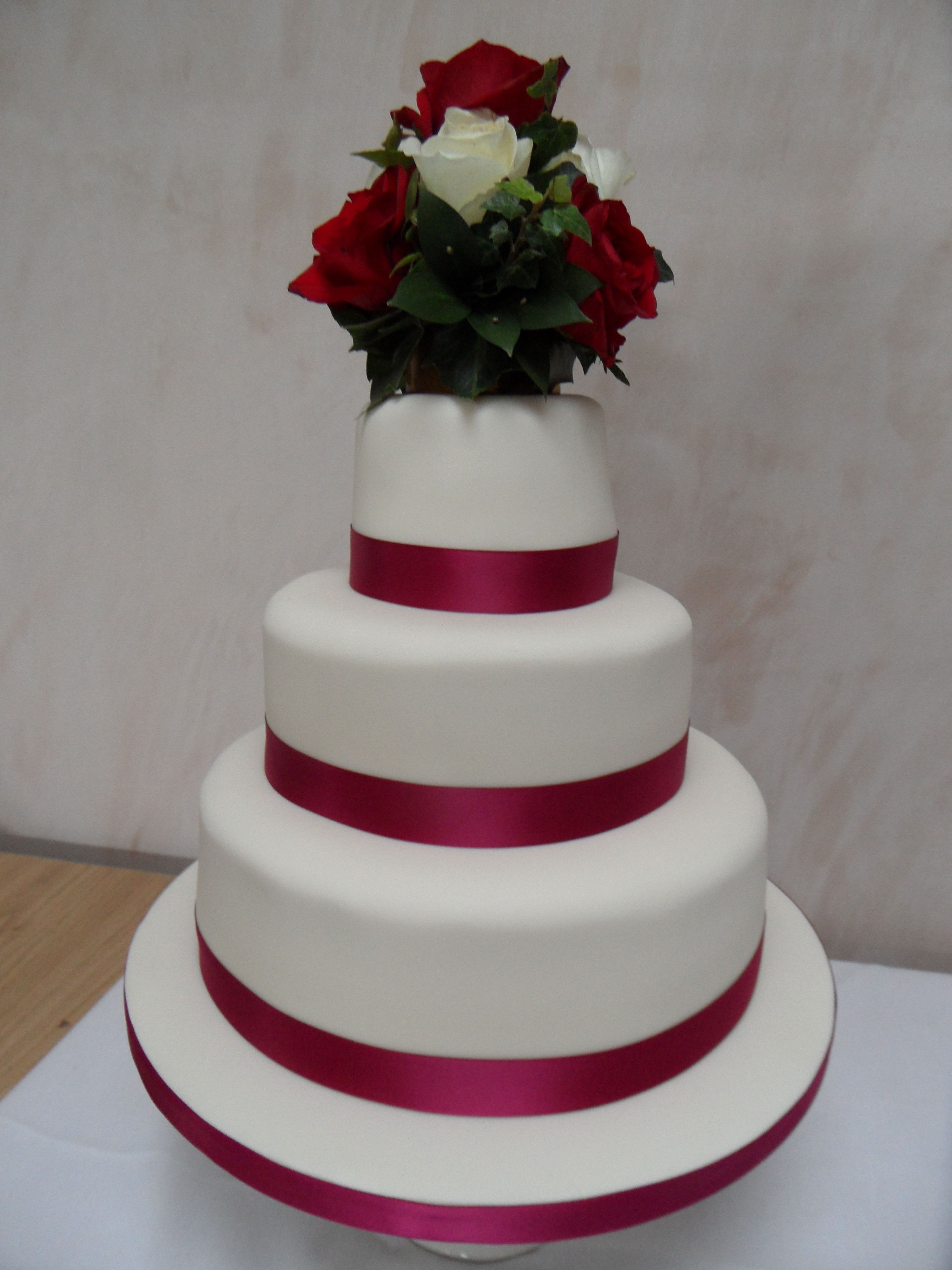 Wedding Cakes With Ribbons  Wedding Cakes Georgina s Cakes