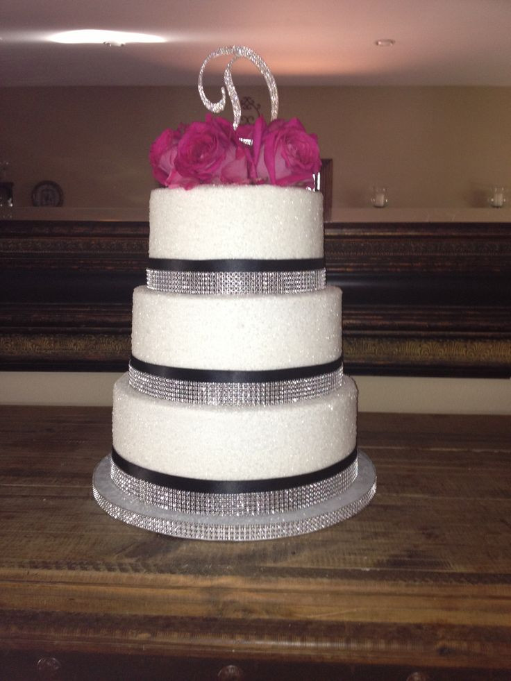 Wedding Cakes With Ribbons  82 best Wedding cakes images on Pinterest