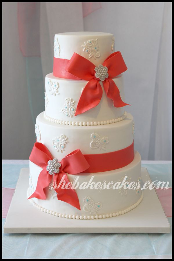 Wedding Cakes With Ribbons  62 best Fall Wedding Cakes images on Pinterest