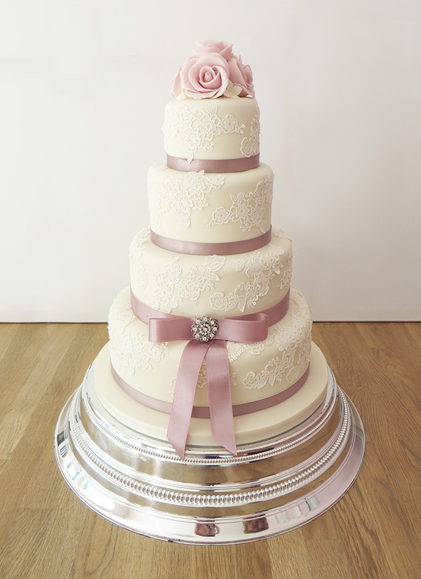 Wedding Cakes With Ribbons  Vintage Style Archives The Cakery Leamington Spa