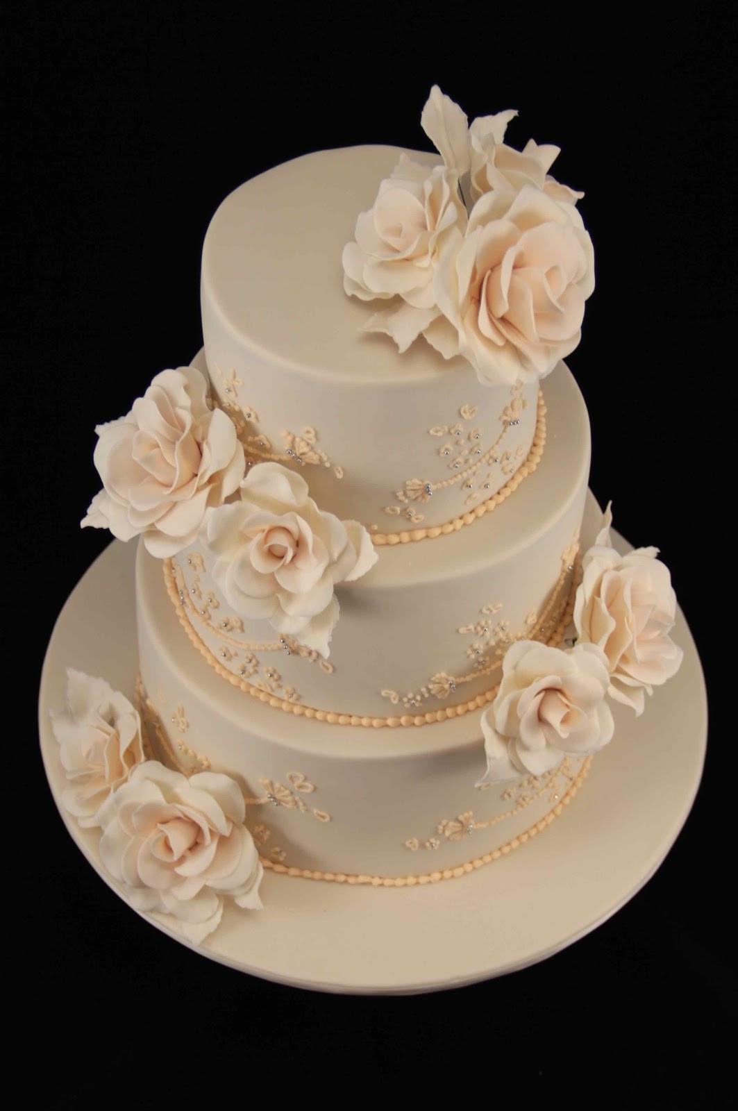 Wedding Cakes With Roses  Bakerz Dad Rose Wedding Cake
