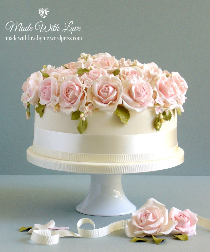 Wedding Cakes With Roses  Bed of Roses Wedding Cake