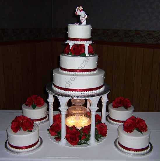 Wedding Cakes With Stairs  wedding cakes with fountains