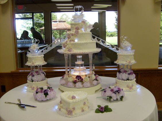 Wedding Cakes With Stairs And Fountains  Pinterest • The world's catalog of ideas