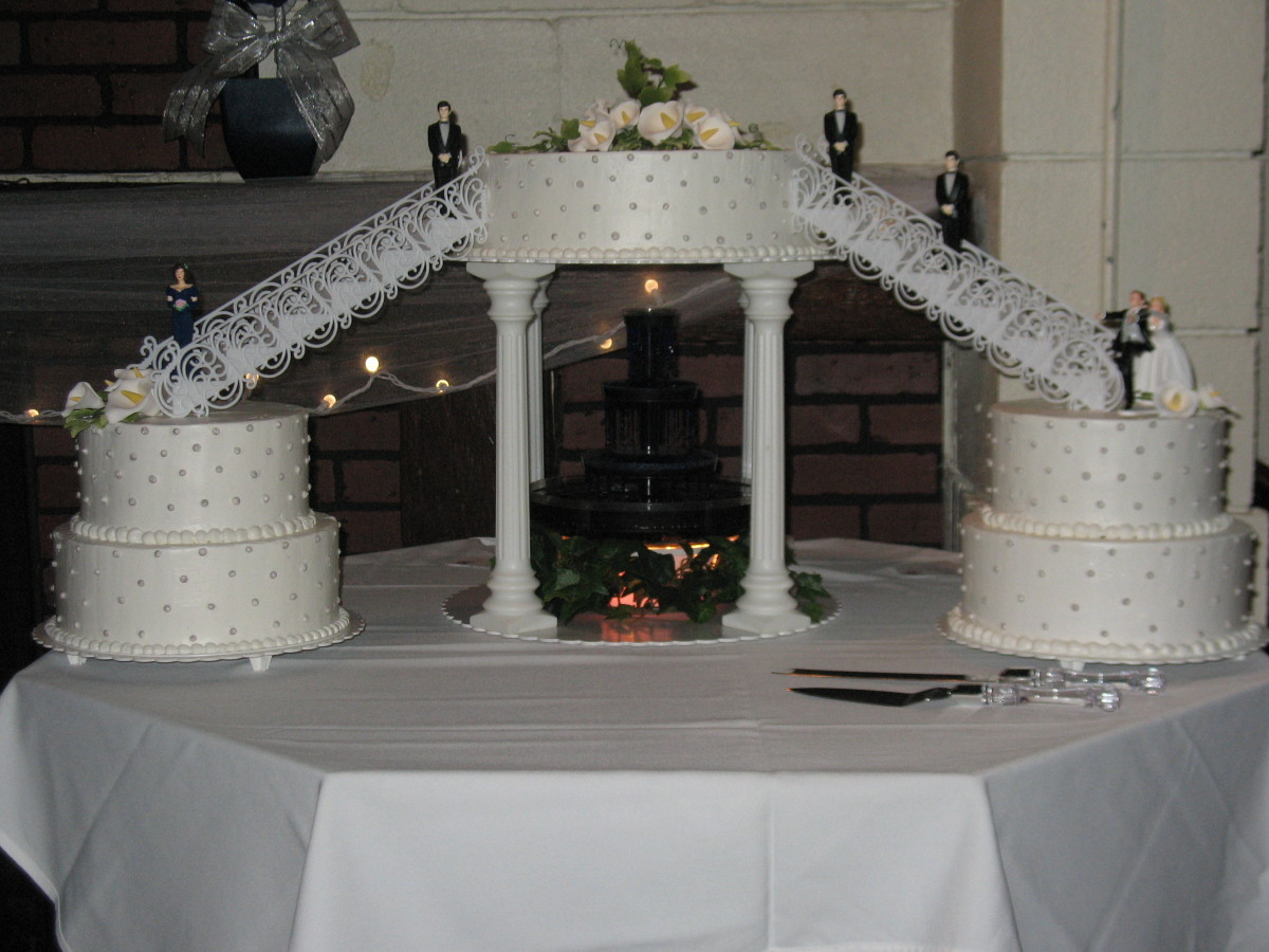 Wedding Cakes With Stairs And Fountains  Gallery Grandma s Country Oven Bake Shoppe