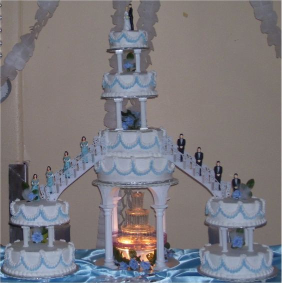 Wedding Cakes With Stairs And Fountains  Wedding Cakes with Fountains