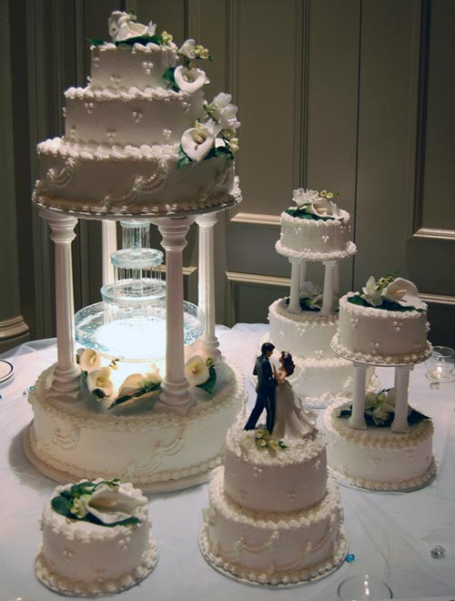 Wedding Cakes With Stairs  Wedding Cakes With Fountains Ideas