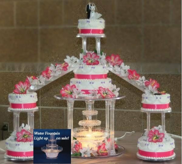 Wedding Cakes With Stairs  quinceanera cakes fountains stairs wedding staircase