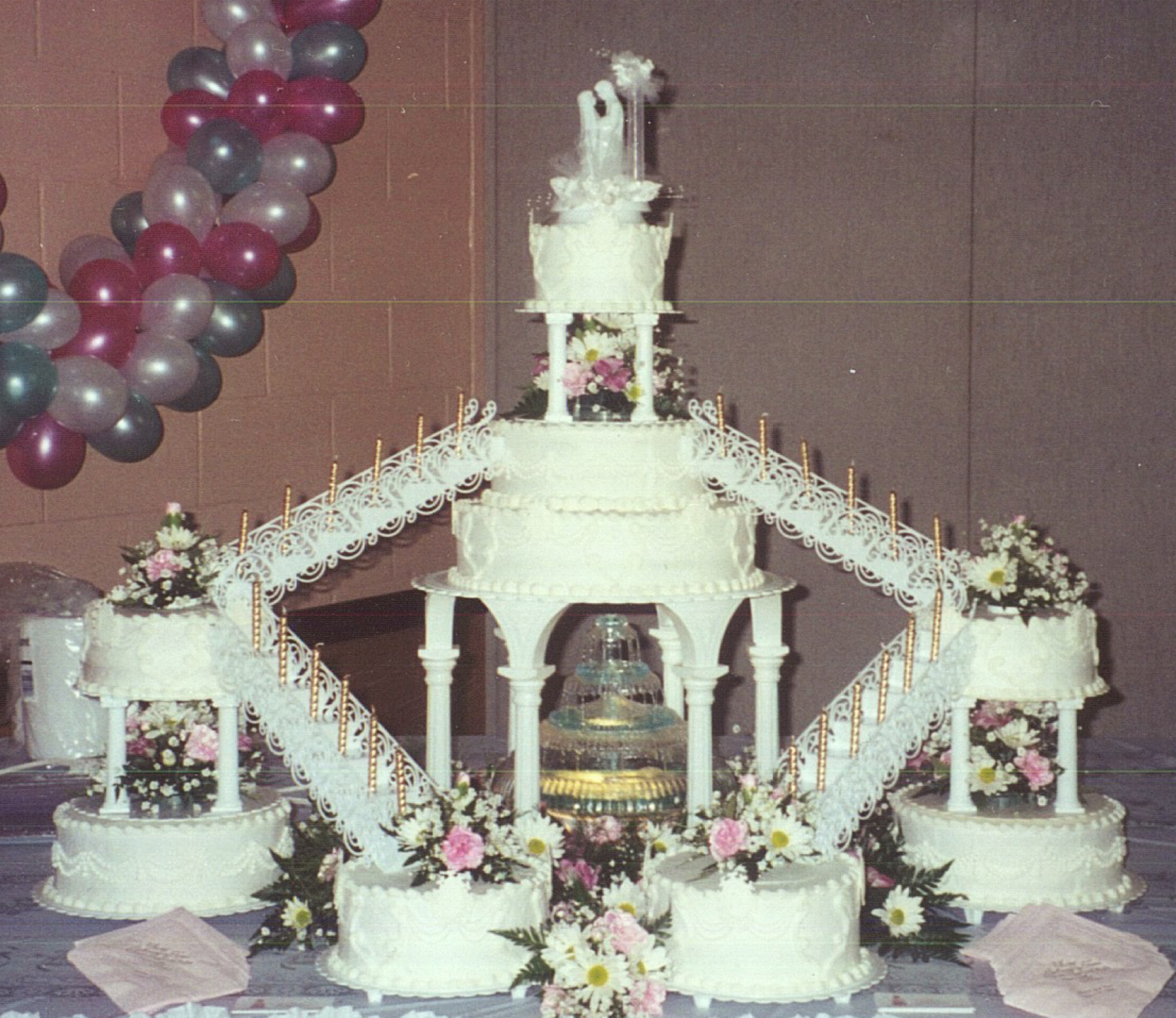 Wedding Cakes With Stairs  Wedding cake stairs idea in 2017