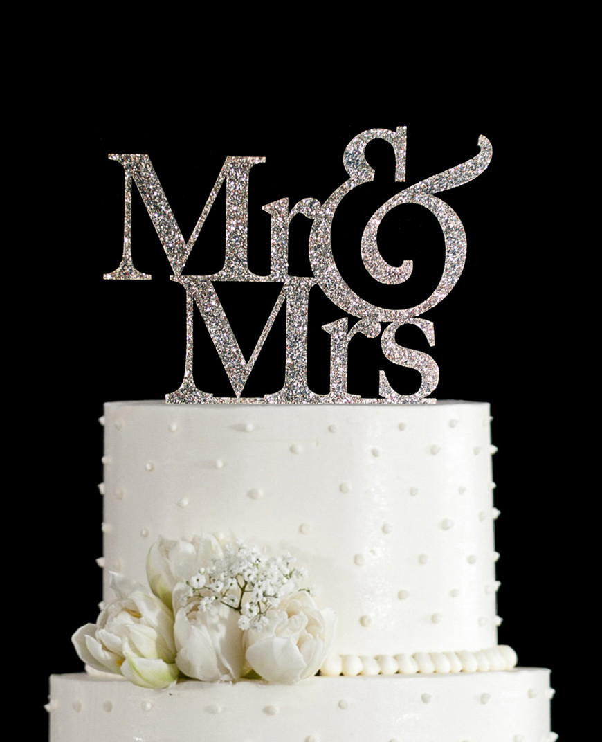 Wedding Cakes With Toppers  Silver Wedding Cake Decorations