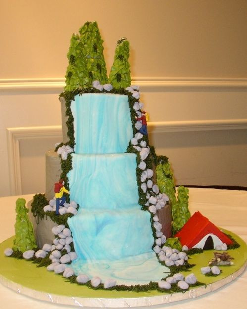 Wedding Cakes With Waterfalls  69 best wedding cakes images on Pinterest