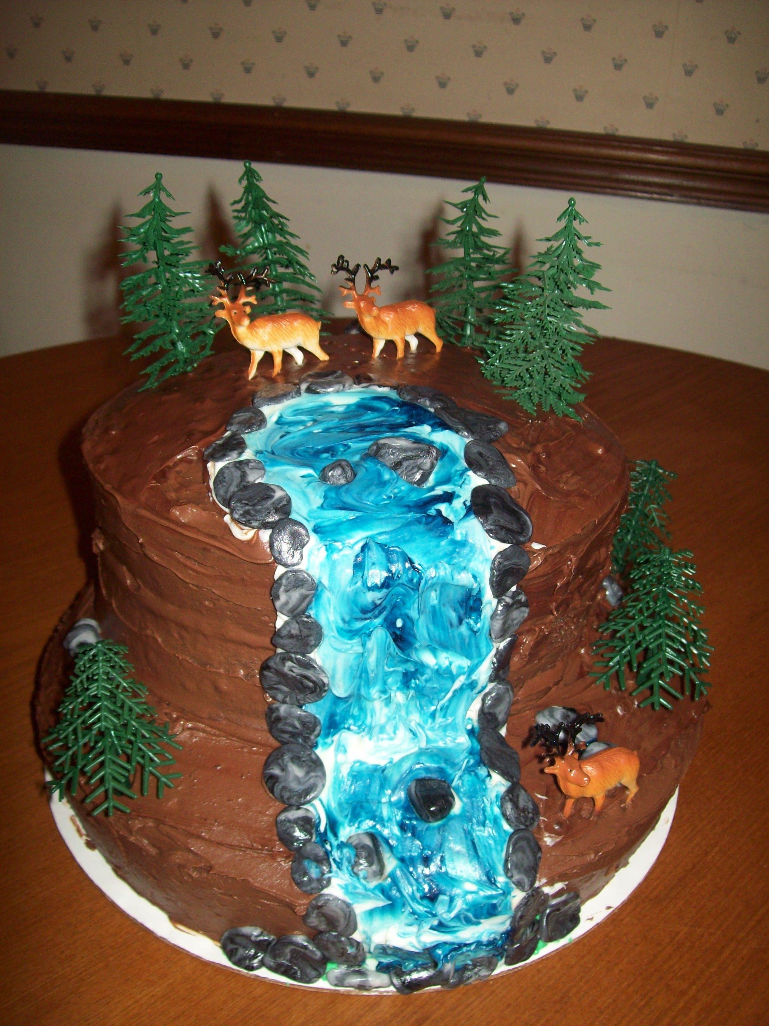 Wedding Cakes With Waterfalls  Waterfall Cake Bake My Day Pinterest