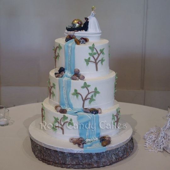 Wedding Cakes With Waterfalls  Rock Candy Cakes Wedding Cake Livermore CA WeddingWire