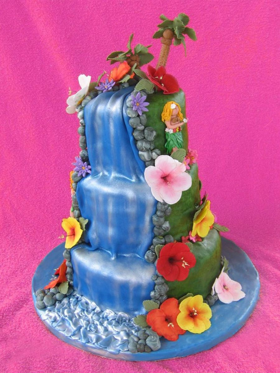 Wedding Cakes With Waterfalls  Waterfall Cake CakeCentral