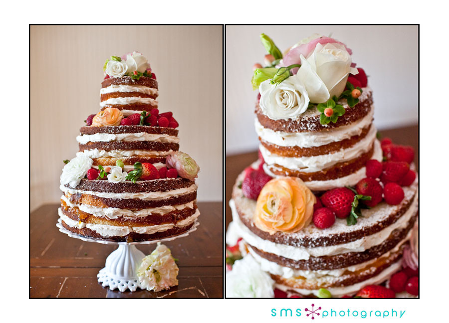 Wedding Cakes Without Frosting  no frosting
