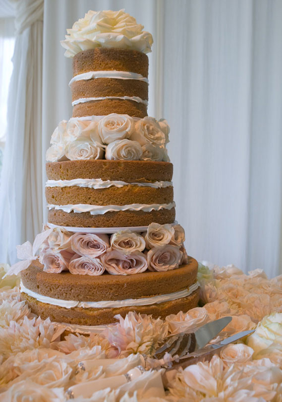 Wedding Cakes Without Frosting  White Rose Weddings Celebrations & Events Celebrity