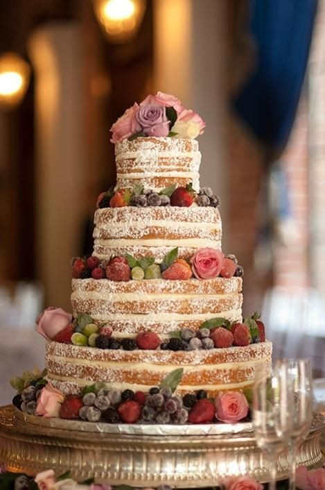 Wedding Cakes Without Frosting  Really starting to like the look of these cakes without