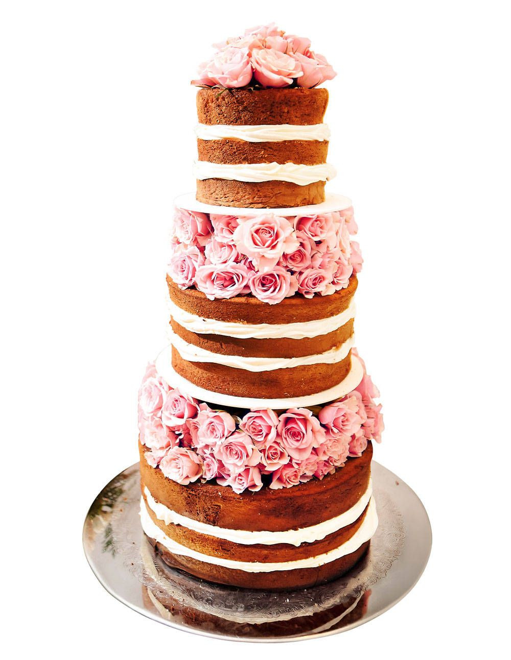 Wedding Cakes Without Frosting  Frosting Optional Wedding Cakes
