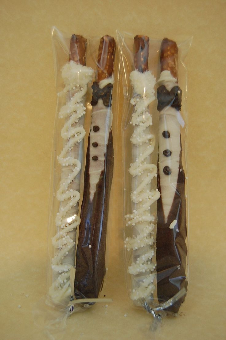 Wedding Chocolate Covered Pretzels  BRIDE and GROOM chocolate covered PRETZEL rods wedding