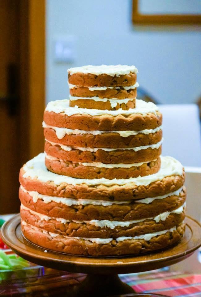 Wedding Cookie Cakes  cookie cake wedding cake