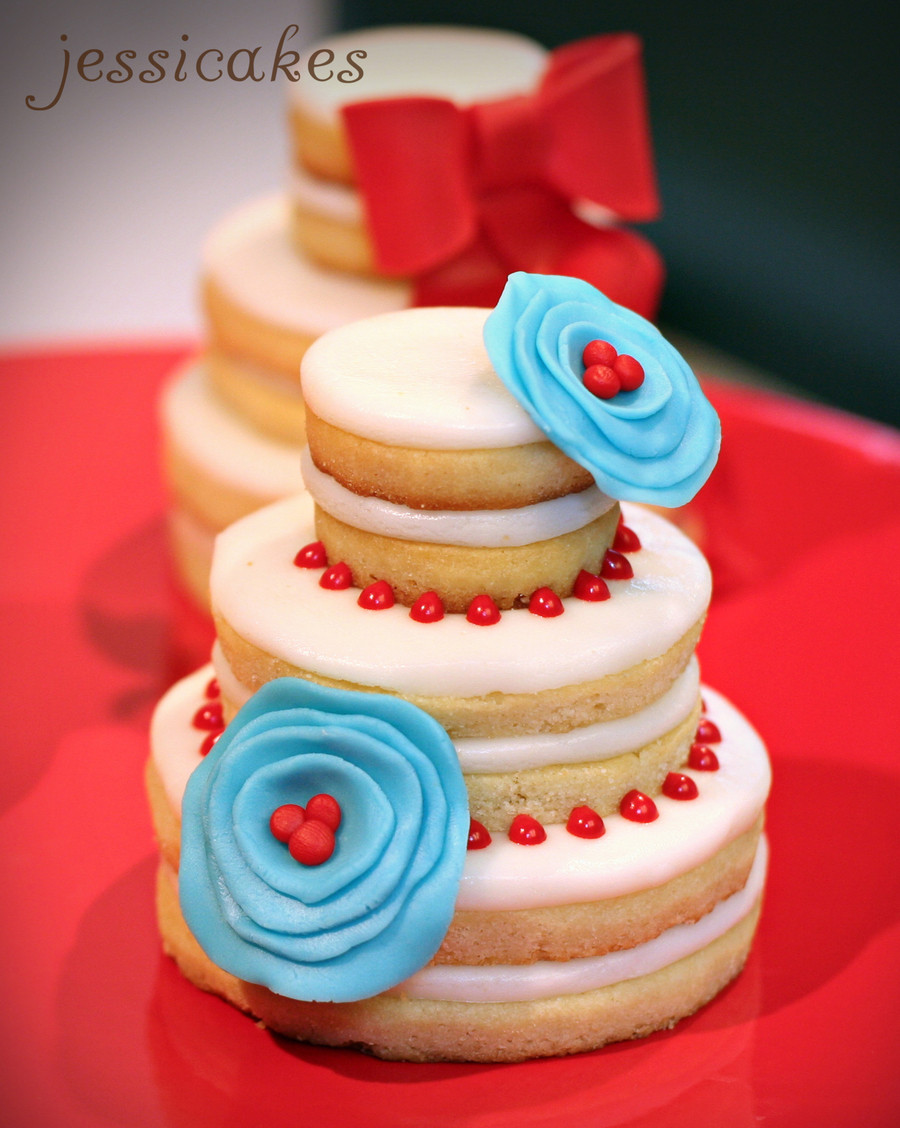 Wedding Cookie Cakes  Wedding Cake Cookies Stacked CakeCentral