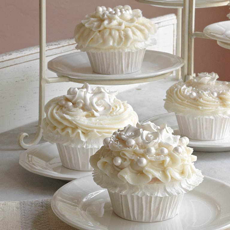Wedding Cup Cakes Recipes  Wedding Cake Cupcakes Recipe