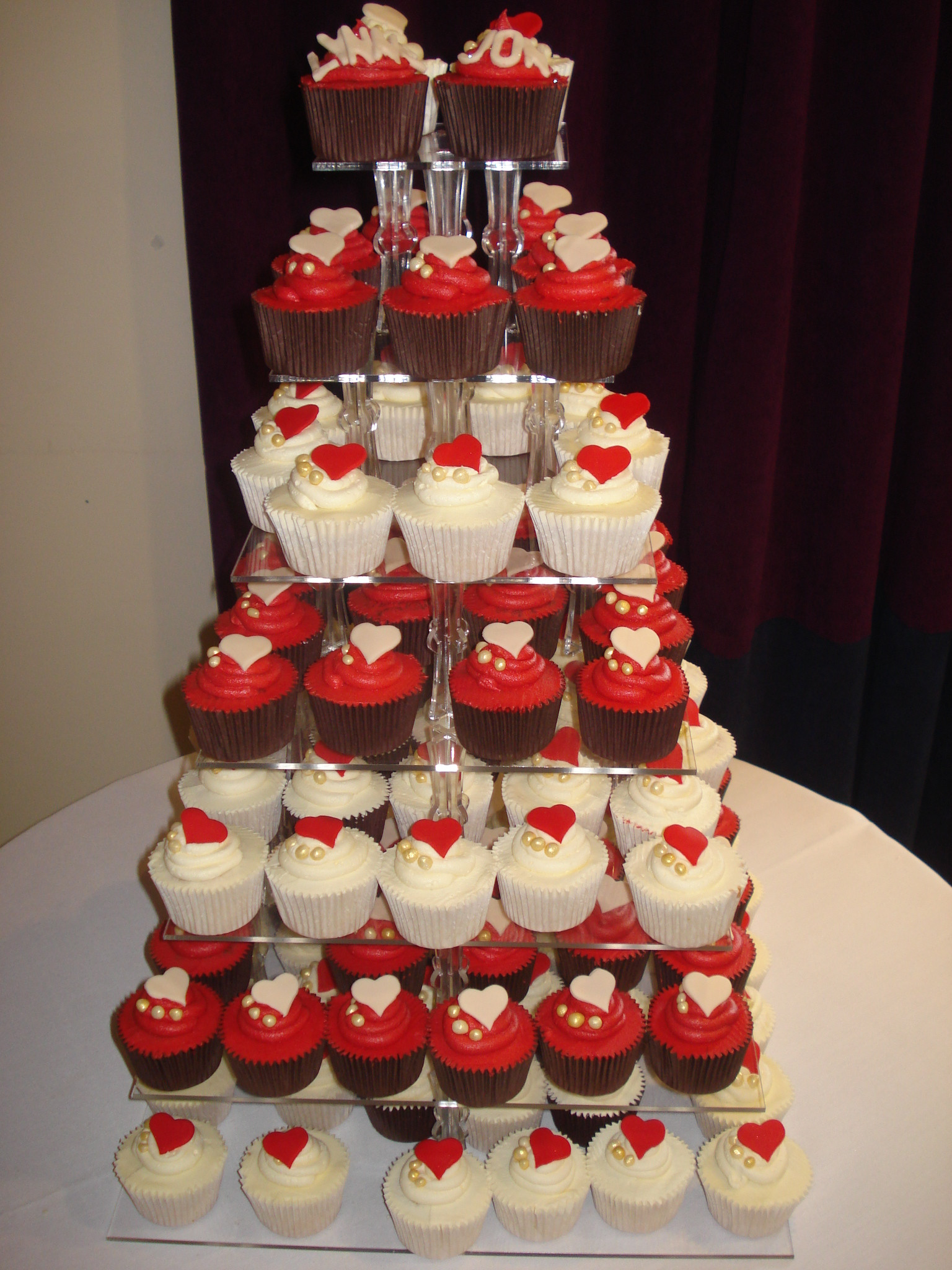 Wedding Cup Cakes  Chinese red and ivory wedding cupcakes – CAKES BY LIZZIE