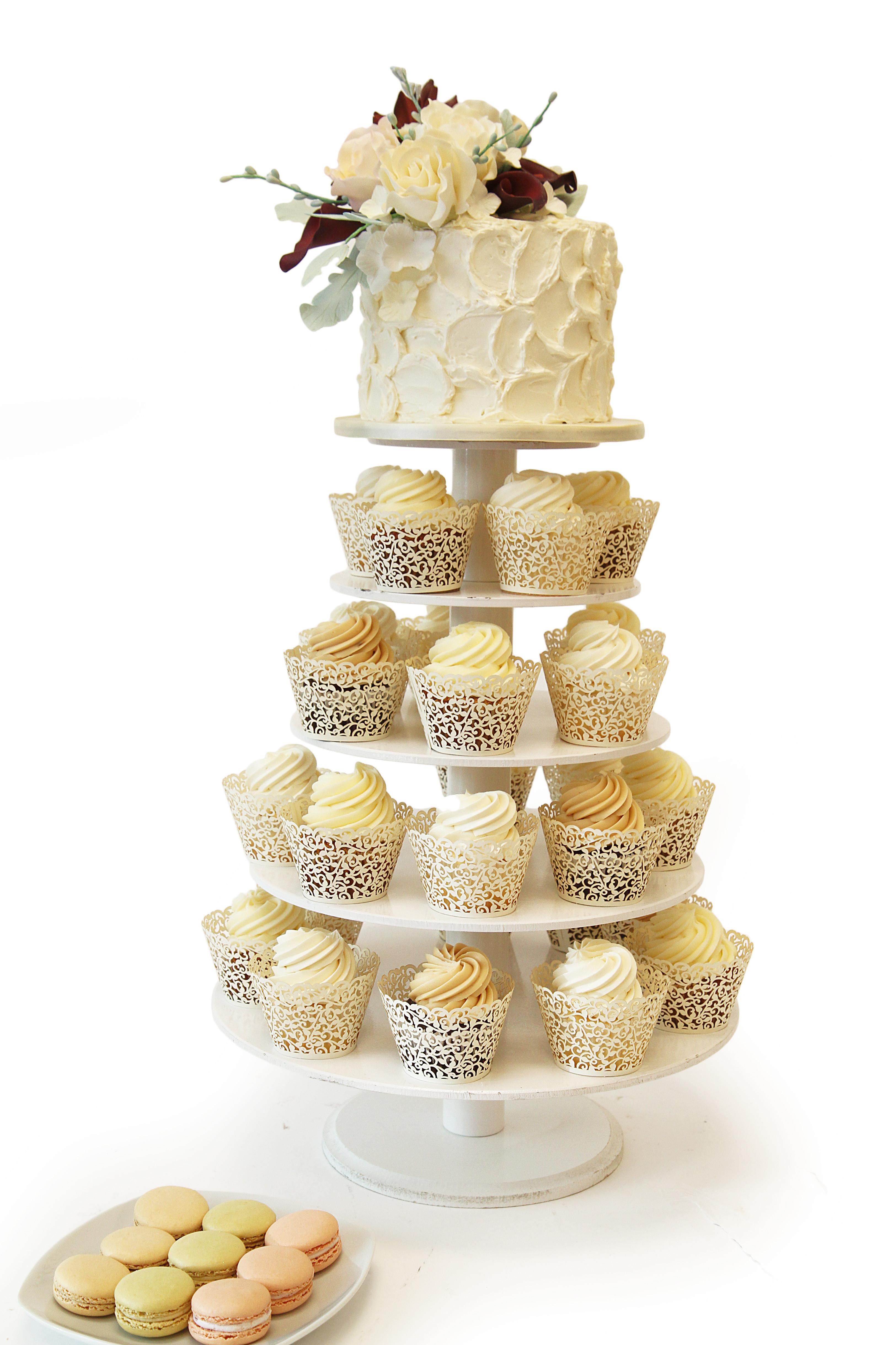 Wedding Cupcake Cakes  Buttercream Wedding Cupcake Tower Wedding Cupcake Stands