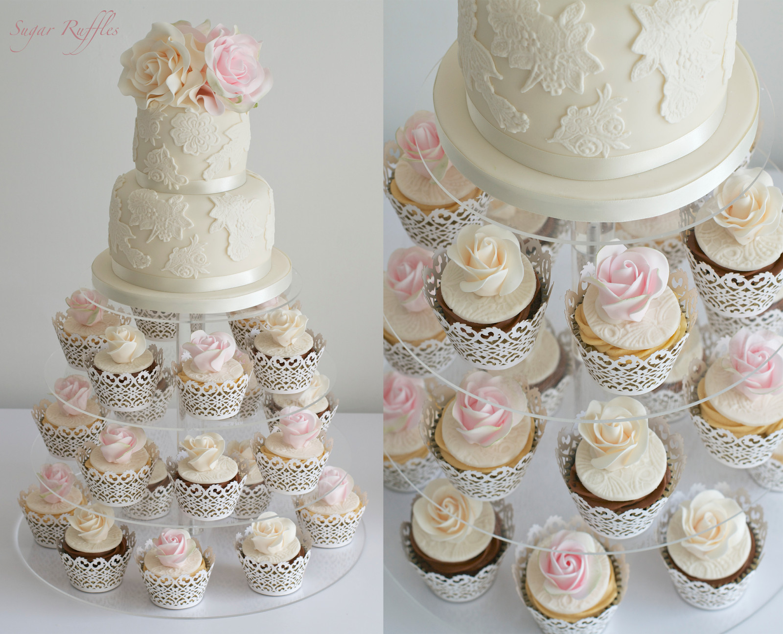 Wedding Cupcake Cakes  Sugar Ruffles Elegant Wedding Cakes Barrow in Furness