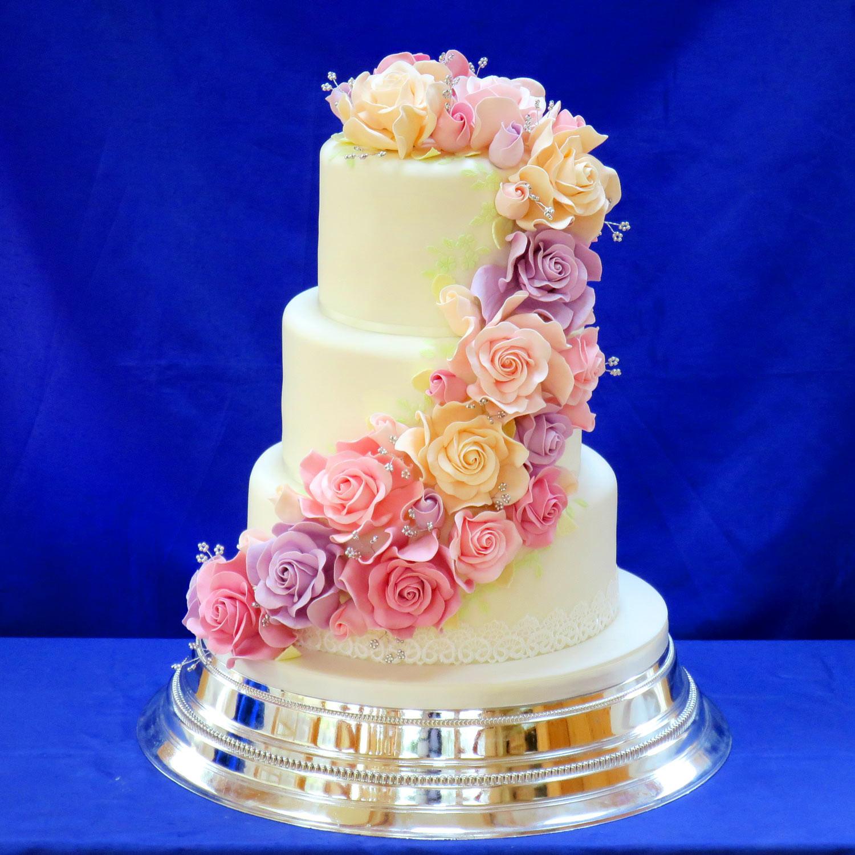 Wedding Cupcake Cakes Designs  The Cake Box Girls Rainbow Wedding Cake Cupcakes
