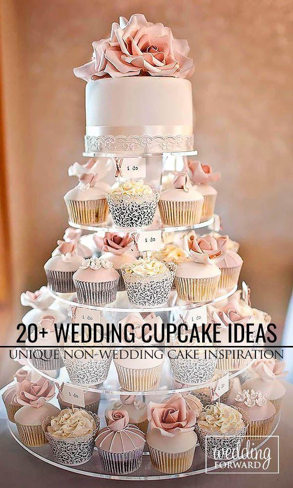 Wedding Cupcake Cakes Designs  45 Totally Unique Wedding Cupcake Ideas