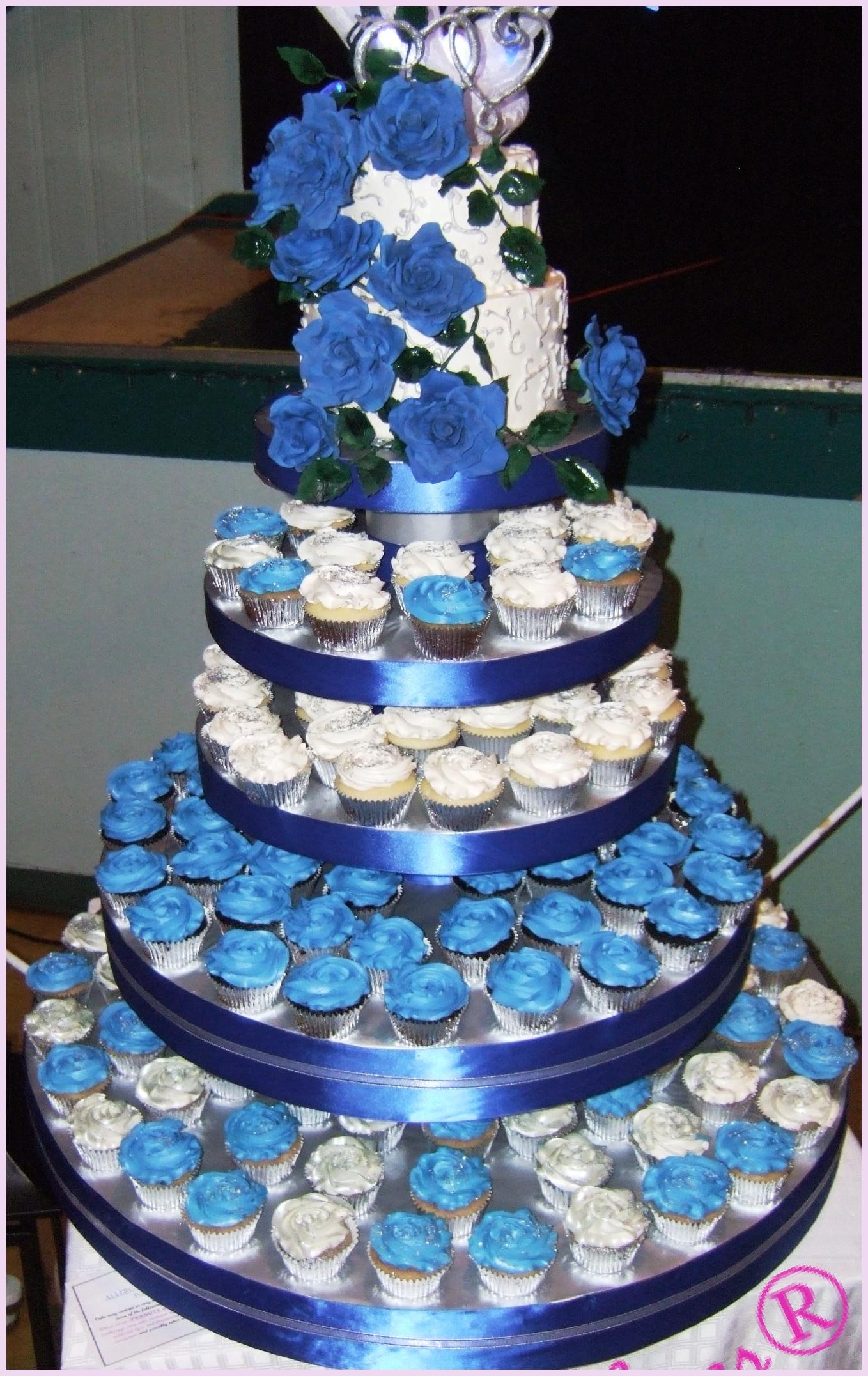 Wedding Cupcake Cakes Designs  Blue Wedding Cake Designs