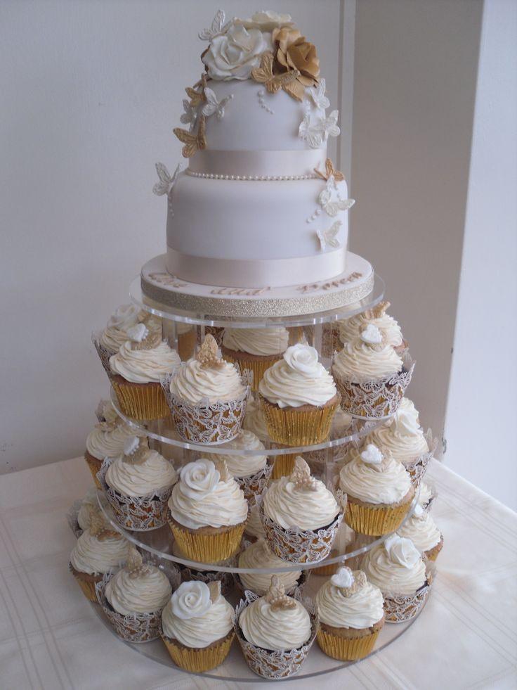 Wedding Cupcake Cakes  wedding cupcake ideas
