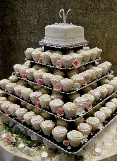 Wedding Cupcake Stand For 100 Cupcakes  The Original Cupcake Tree Square Stand for up to