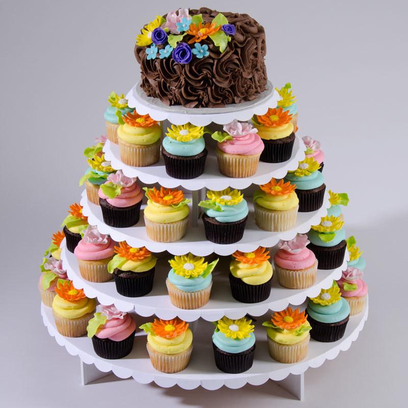 Wedding Cupcake Stand For 100 Cupcakes  Cupcaketree Cupcake Stand for weddings