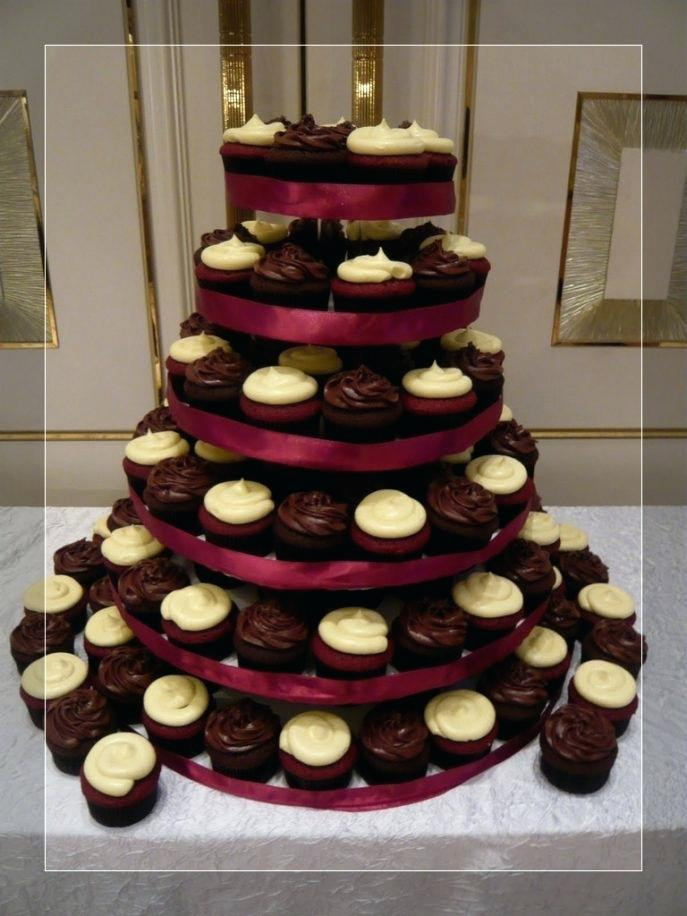 Wedding Cupcake Stand For 100 Cupcakes  How To Make A Cupcake Stand For 100 Cupcakes Flat 4 Tier