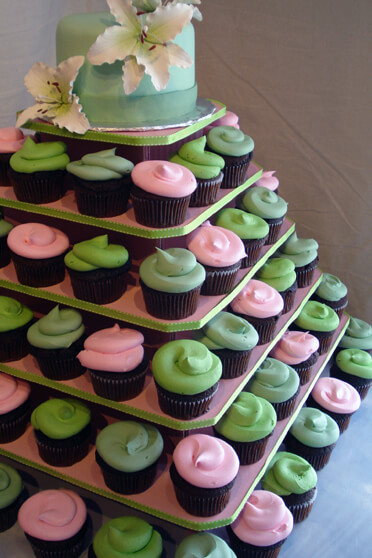 Wedding Cupcake Stand For 100 Cupcakes  The Original Cupcake Tree Square holds up to 100 cupcakes