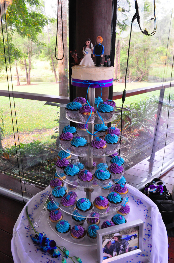 Wedding Cupcakes Pictures  Purple and turquoise wedding cupcakes