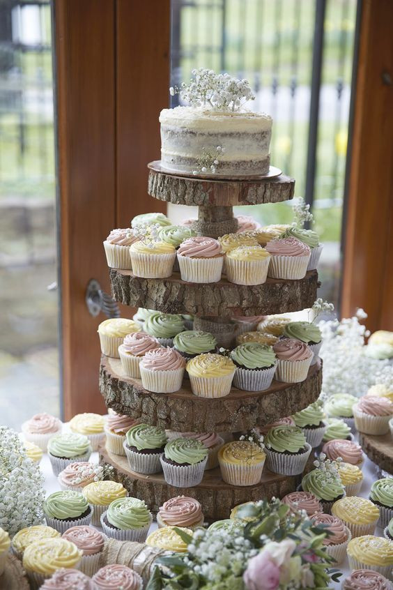 Wedding Cupcakes Towers  25 Amazing Rustic Wedding Cupcakes & Stands