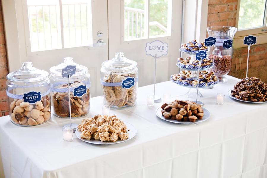 Wedding Dessert Bar Ideas  Nikki s Navy White Dessert Bar