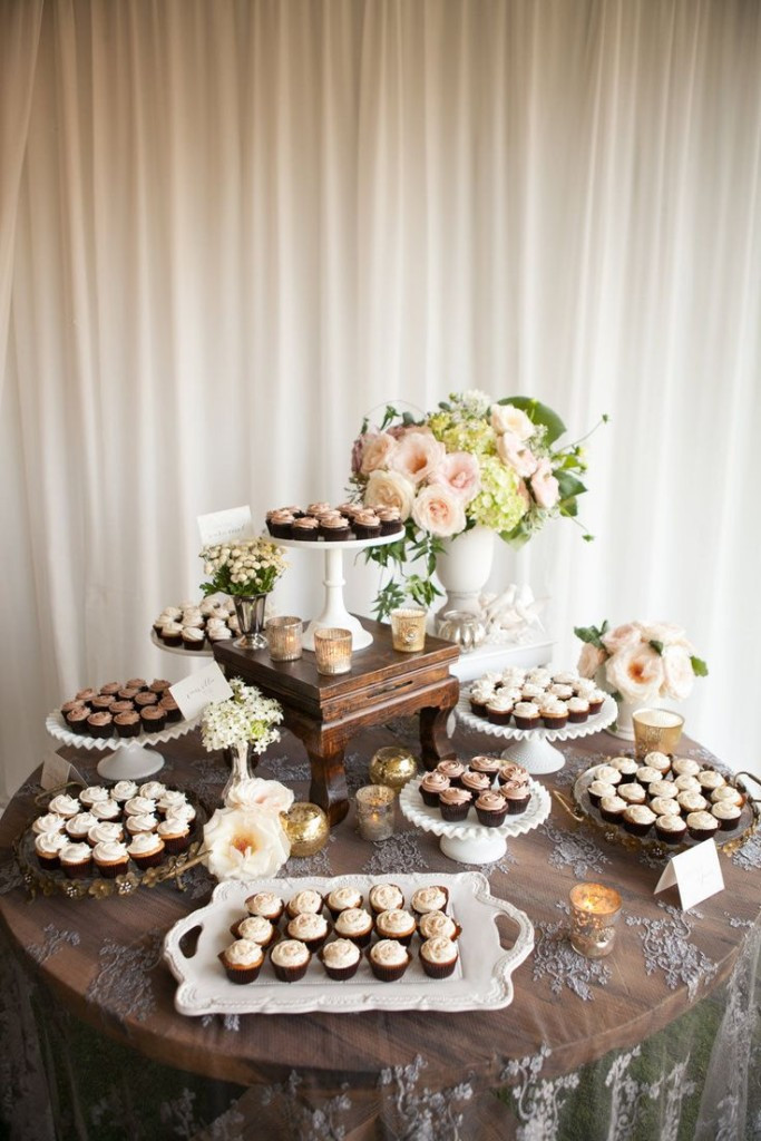 Wedding Dessert Table  47 Adorable and Yummy Cupcake Display Ideas for Your